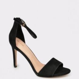 Sandale ALDO negre, Fiolla, din piele intoarsa