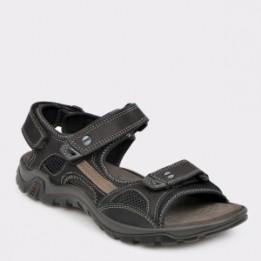 Sandale SALAMANDER negre, 40201, din nabuc