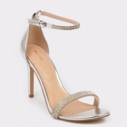 Sandale elegante ALDO argintii, Aroclya, din piele ecologica