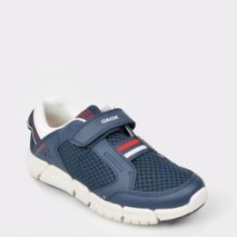Pantofi sport pentru copii GEOX bleumarin, J929Bb, din piele naturala si material textil