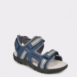 Sandale pentru copii GEOX bleumarin, J9224A, din material textil