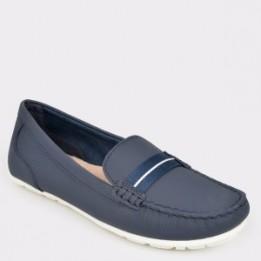 Pantofi CLARKS bleumarin, Damevin, din piele naturala