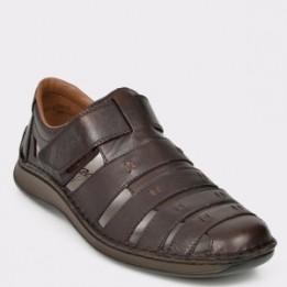 Pantofi RIEKER maro, 5279, din piele naturala