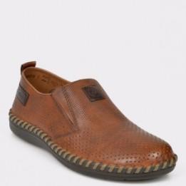 Pantofi RIEKER maro, B2476, din piele naturala