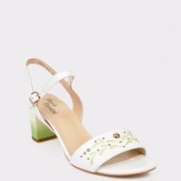 Sandale FLAVIA PASSINI albe, 18J7901, din piele naturala