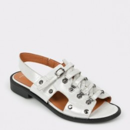 Sandale FLAVIA PASSINI albe, 24400, din piele naturala