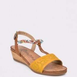Sandale REMONTE galbene, R4459, din piele ecologica