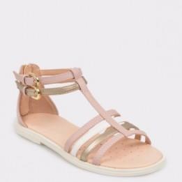 Sandale pentru copii GEOX nude, J7235D, din piele ecologica