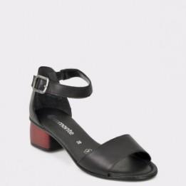 Sandale REMONTE negre, R8750, din piele naturala