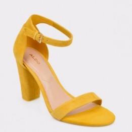 Sandale ALDO galbene, JERAYCLYA, din piele intoarsa