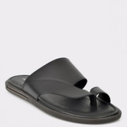 Papuci ALDO negre, Daysa, din piele naturala