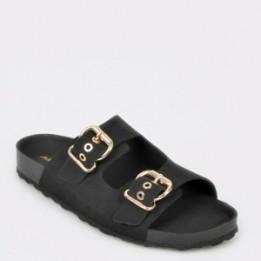 Papuci ALDO negre, Laydith, din piele naturala