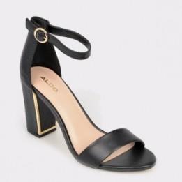 Sandale ALDO negre, Gwigolla, din piele ecologica