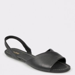 Sandale ALDO negre, Roedien, din piele naturala
