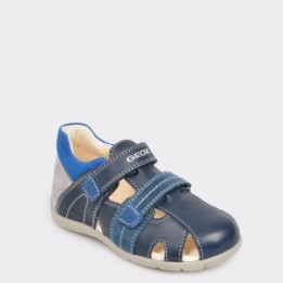 Pantofi sport, pentru copii, GEOX bleumarin, B9250B, din piele ecologica
