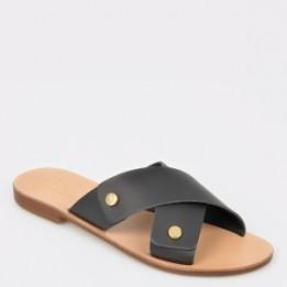 Papuci ALDO negre, Dareni, din piele naturala