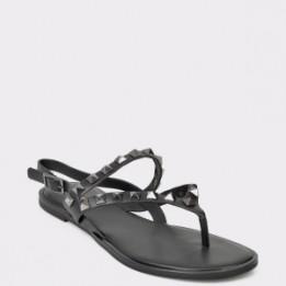 Sandale ALDO negre, Tawiel, din piele ecologica