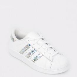 Pantofi sport pentru copii ADIDAS albi, Cg6708, din piele naturala