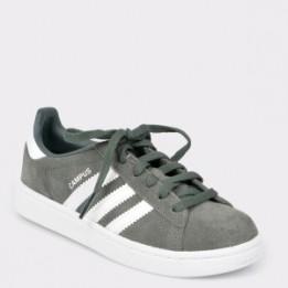 Pantofi sport pentru copii ADIDAS gri, Cg6654, din piele intoarsa