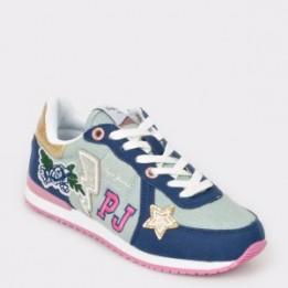 Pantofi sport pentru copii PEPE JEANS albastri, Gs30392, din material textil