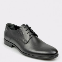 Pantofi OTTER negri, K03, din piele naturala