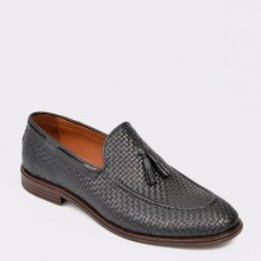 Pantofi OTTER negri, M209, din piele naturala