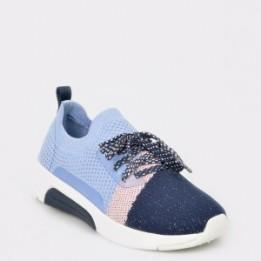 Pantofi sport pentru copii SKECHERS albastri, 89803L, din material textil