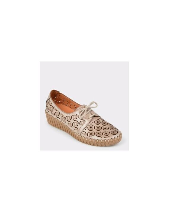 Pantofi FLAVIA PASSINI bej, Fl3021, din piele naturala