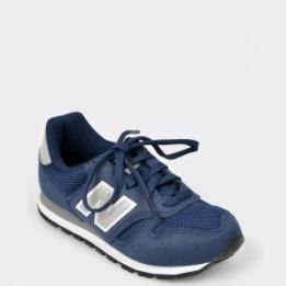 Pantofi sport pentru copii NEW BALANCE bleumarin, Yc373, din piele ecologica