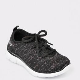 Pantofi sport pentru copii SKECHERS negri, 81673L, din materialtextil