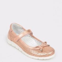 Pantofi pentru copii SELECTIONS KIDS nude, 3016, din piele naturala