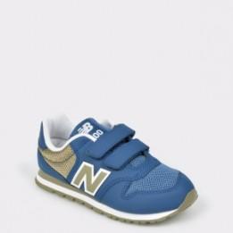 Pantofi sport pentru copii NEW BALANCE albastri, Yv500, din material textil