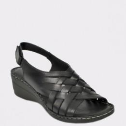 Sandale FLAVIA PASSINI negre, 410, din piele naturala