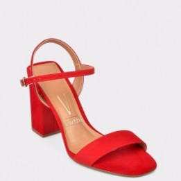 Sandale VIZZANO rosii, 6396100, din piele ecologica
