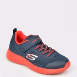 Pantofi sport pentru copii SKECHERS bleumarin, 97770L, din material textil