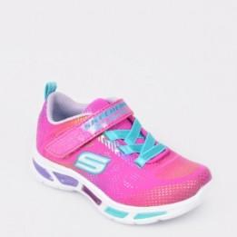 Pantofi sport pentru copii SKECHERS roz, 10959N, din material textil