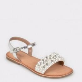 Sandale pentru copii SELECTION KIDS albe, Sh08, din piele naturala