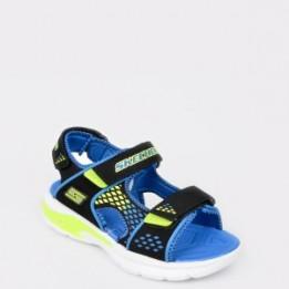 Sandale pentru copii SKECHERS albastre , 90558L, din piele ecologica