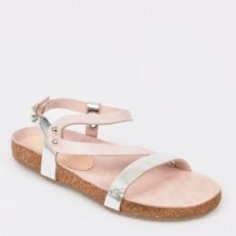 Sandale pentru copii SELECTION KIDS argintii, Sh1216, din piele naturala