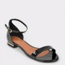 Sandale FLAVIA PASSINI negre, 11471, din piele ecologica lacuita