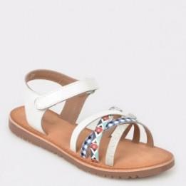 Sandale pentru copii SELECTION KIDS albe, Sh18, din piele naturala