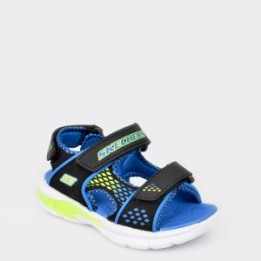 Sandale pentru copii SKECHERS negre, 90558N, din piele ecologica
