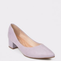 Pantofi mov, 4182100, din piele ecologica