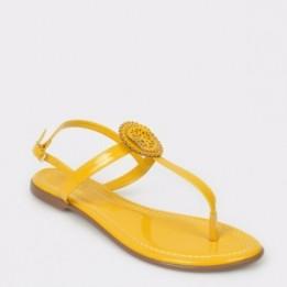 Sandale FLAVIA PASSINI galbene, 10966, din piele ecologica lacuita