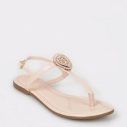 Sandale FLAVIA PASSINI nude, 10966, din piele ecologica lacuita
