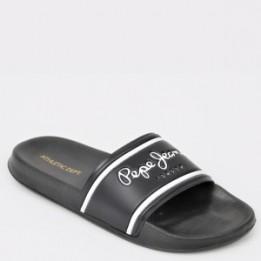 Papuci PEPE JEANS negri, Ms70070, din Pvc