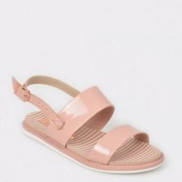 Sandale pentru fetite nude, 2312106, din piele ecologica