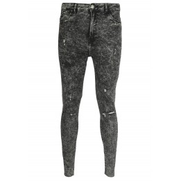 Blugi Bershka Jane Dark Grey