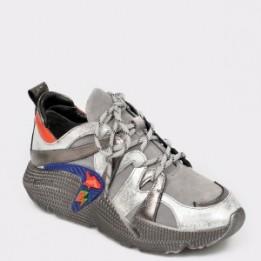 Pantofi sport EPICA gri, 3080, din piele naturala