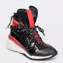 Pantofi sport FLAVIA PASSINI negre, 3052, din material textil si piele naturala
